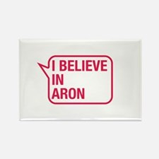 I Believe In Aron Rectangle Magnet