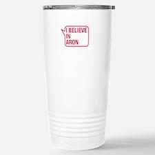 I Believe In Aron Travel Mug