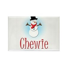 Snowman - Chewie Rectangle Magnet