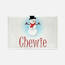 Snowman - Chewie Rectangle Magnet