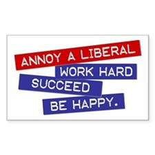 """Annoy a Liberal"" Rectangle Decal"