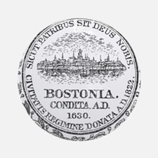 Vintage Boston Seal Ornament (Round)