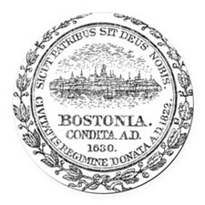 Vintage Boston Seal Round Car Magnet