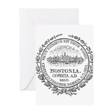 Vintage Boston Seal Greeting Card