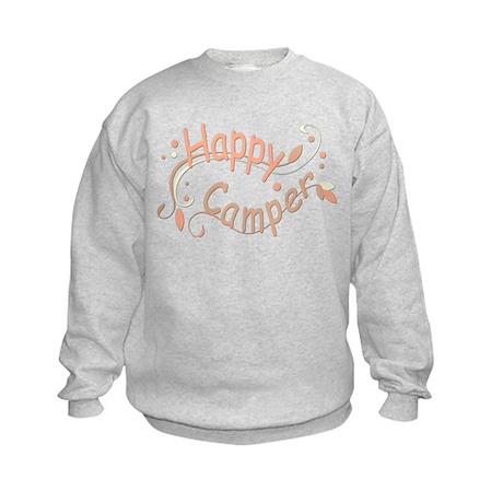 Happy Camper Pink Sweatshirt