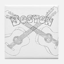 Boston Guitars Tile Coaster