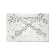 Massachusetts Guitars Rectangle Magnet