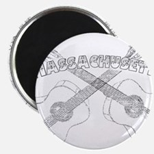 "Massachusetts Guitars 2.25"" Magnet (100 pack)"