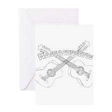 Massachusetts Guitars Greeting Card