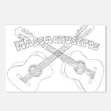 Massachusetts Guitars Postcards (Package of 8)