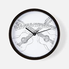Massachusetts Guitars Wall Clock