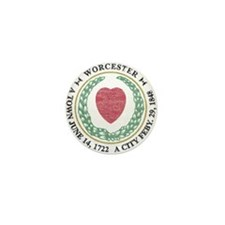 Vintage Worcester Mini Button
