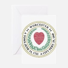 Vintage Worcester Greeting Card