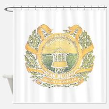 Vintage Cottage City Shower Curtain