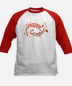 Happy Camper Red Baseball Jersey