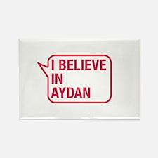 I Believe In Aydan Rectangle Magnet