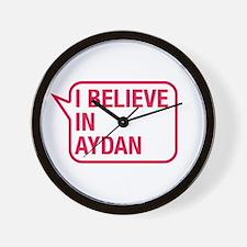 I Believe In Aydan Wall Clock