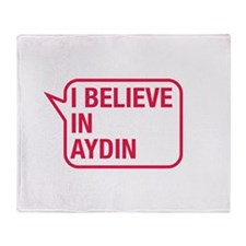 I Believe In Aydin Throw Blanket