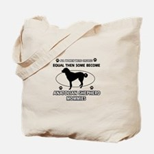 Funny Anatolian Shepherd dog mommy designs Tote Ba