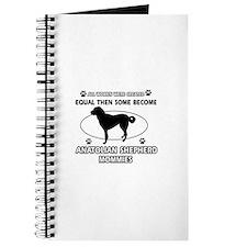 Funny Anatolian Shepherd dog mommy designs Journal