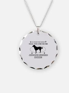 Funny Anatolian Shepherd dog mommy designs Necklac