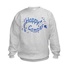 Happy Camper Blue Sweatshirt