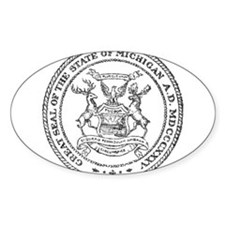 Vintage Michigan State Seal Decal