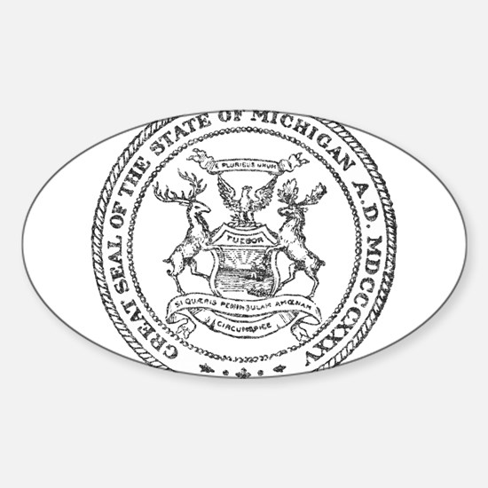 Vintage Michigan State Seal Decal