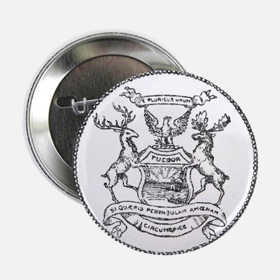 "Vintage Michigan State Seal 2.25"" Button"