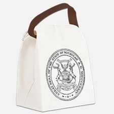 Vintage Michigan State Seal Canvas Lunch Bag