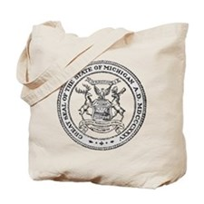 Vintage Michigan State Seal Tote Bag