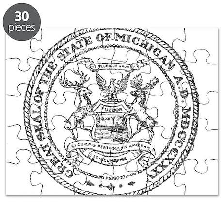 Vintage Michigan State Seal Puzzle