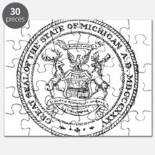 Vintage Michigan State Seal Puzzle