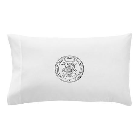 Vintage Michigan State Seal Pillow Case
