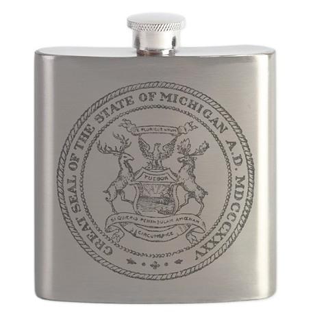 Vintage Michigan State Seal Flask