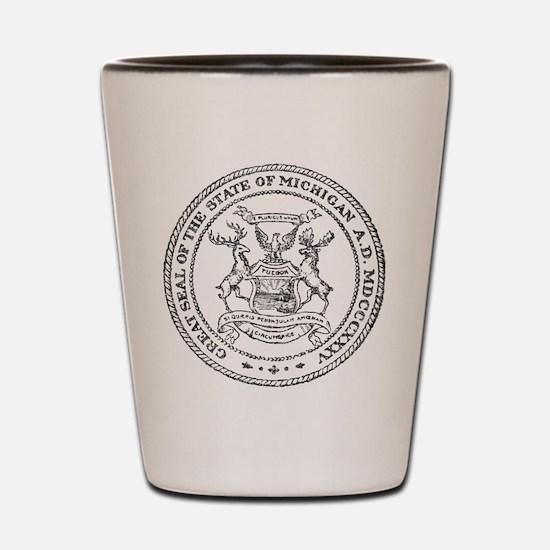 Vintage Michigan State Seal Shot Glass
