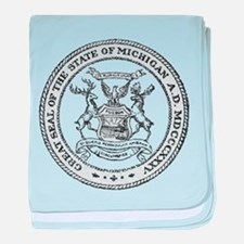 Vintage Michigan State Seal baby blanket