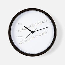 Major and Minor Keys Wall Clock