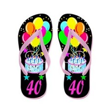 Cute 20 yr old birthday Flip Flops