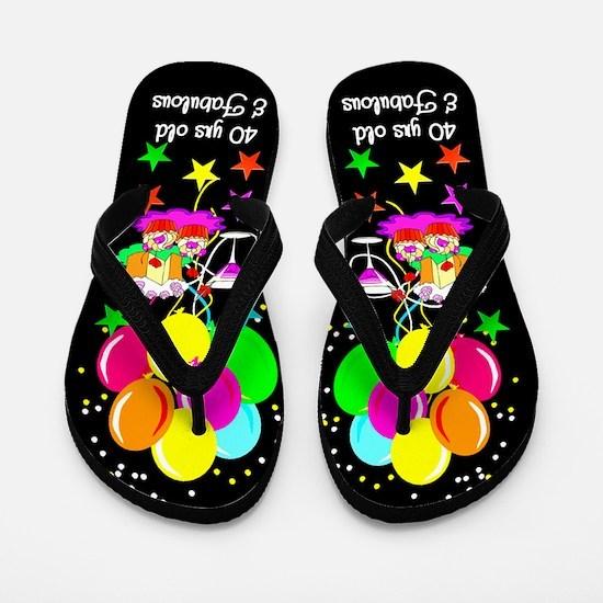 CELEBRATE 40TH Flip Flops