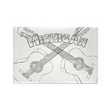 Michigan Guitars Rectangle Magnet