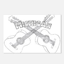 Michigan Guitars Postcards (Package of 8)