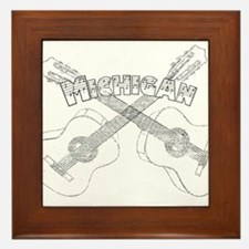 Michigan Guitars Framed Tile