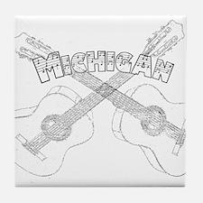 Michigan Guitars Tile Coaster