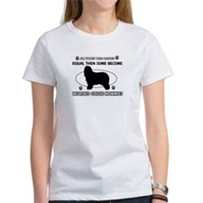 Funny Bearded Collie dog mommy designs Tee