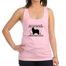 Funny Bearded Collie dog mommy designs Racerback T