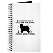 Funny Bearded Collie dog mommy designs Journal