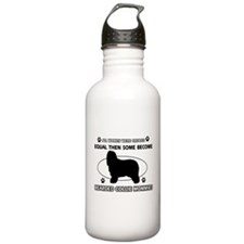 Funny Bearded Collie dog mommy designs Water Bottle