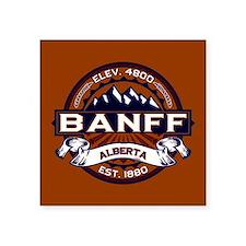 "Banff Vibrant Square Sticker 3"" x 3"""