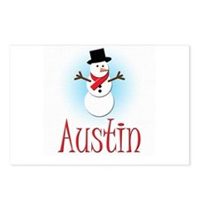 Snowman - Austin Postcards (Package of 8)